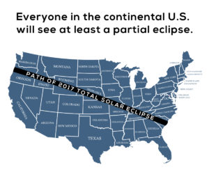2017 Total Solar Eclipse Map North America